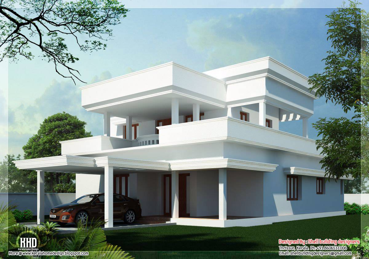 Flat Roof Home Design Kerala Architecture House Plans