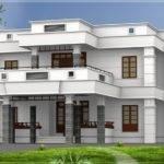 Flat Roof Homes Designs Bhk Modern House Design