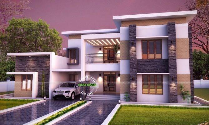 Flat Roof House Plan Kerala Home Design