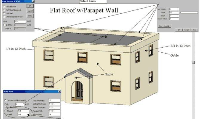 Flat Roof Parapet Wall