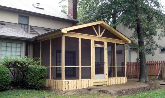 Flat Roof Screen Porch Ideas