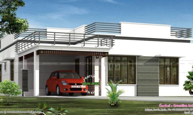 Flat Roof Single Floor Home Kerala
