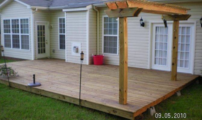 Floating Deck Pergola More