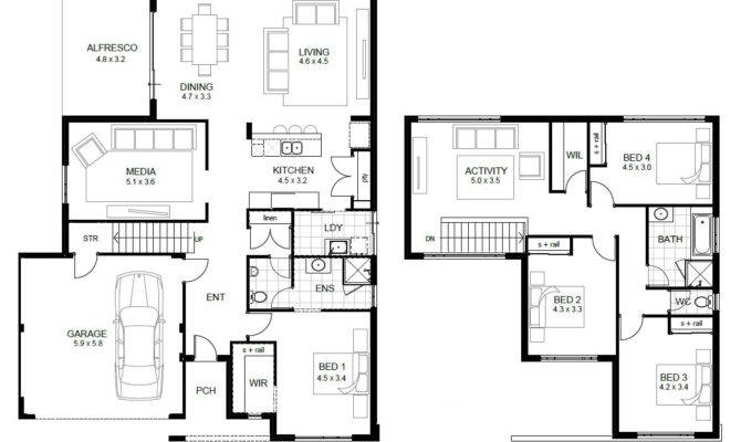 Floor House Plans Bedroom Story