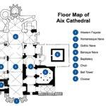 Floor Map Aix Provence Gothic Cathedral Plan