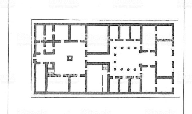 Floor Plan Ancient Greek House Vector Art