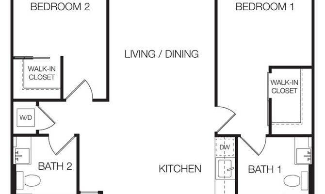 Floor Plan Bedroom Apartment Fromgentogen