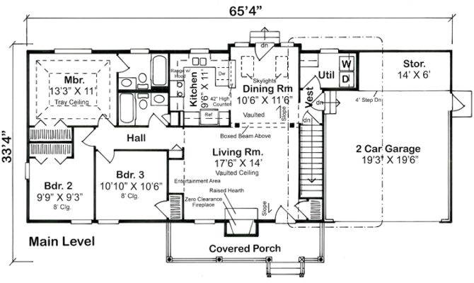 Floor Plan Bungalow Country Ranch Traditional House