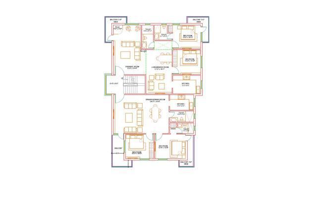 Floor Plan Duplex House