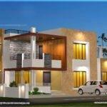 Floor Plan Elevation Modern House Home Kerala Plans