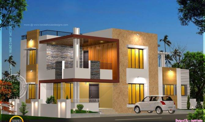 Floor Plan Elevation Modern House Kerala Home
