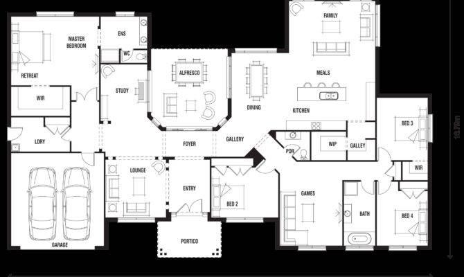modern ranch floor plans - 670×400