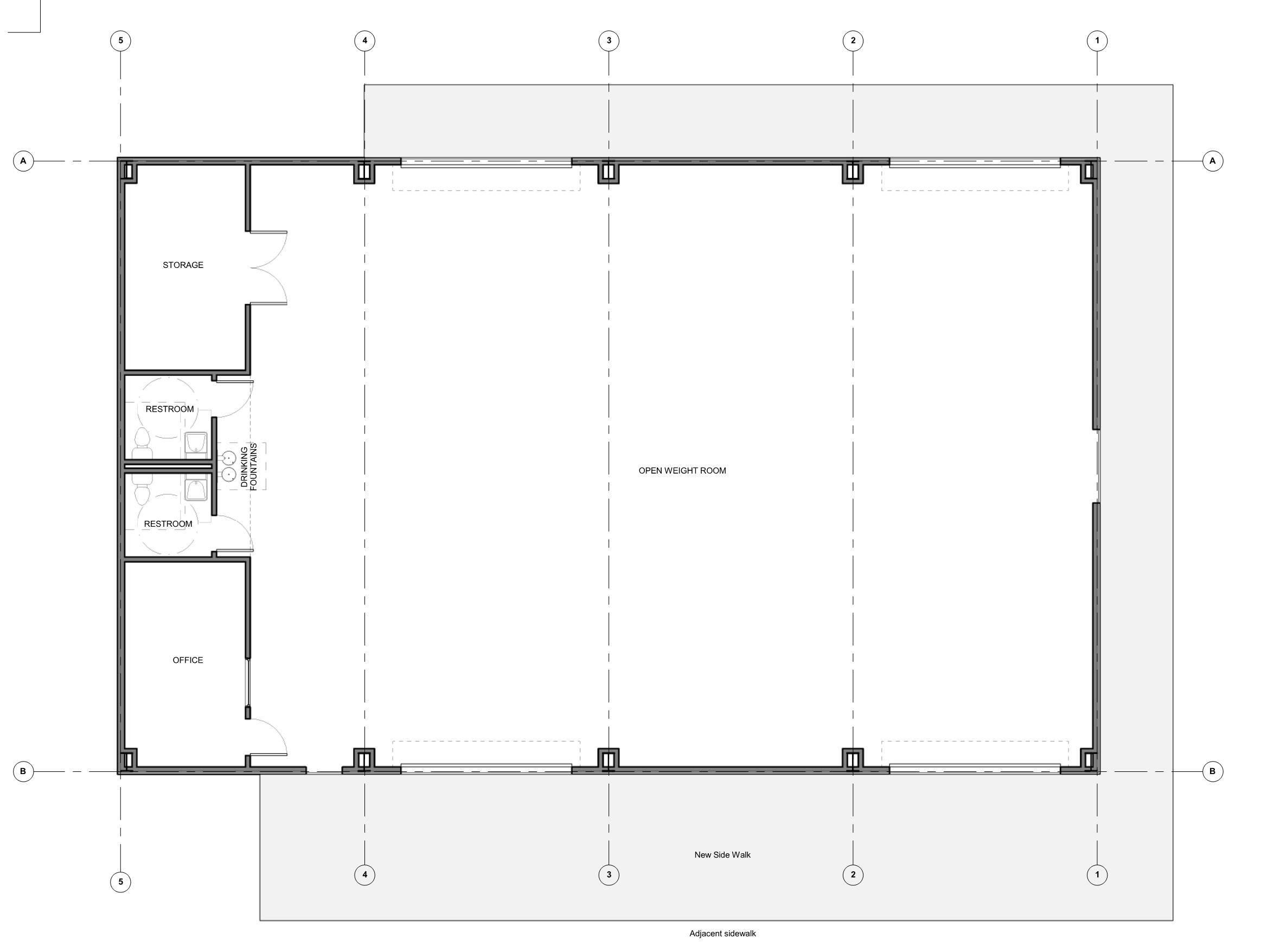 Floor Plan Lee Junior High Weight Room