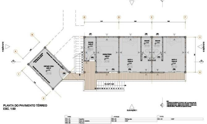 Floor Plan Outstanding Sustainable Home Praia Felix Brazil