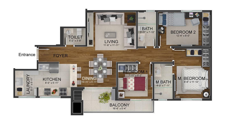 Floor Plan Rendering Fyr Studio