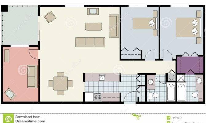 Floor Plan Two Bed Condo Den Furniture