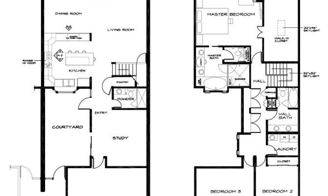 Floor Plan Two Story Townhouse Los Gatos