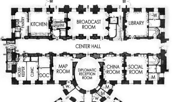 Floor Plan White House Architectural Designs