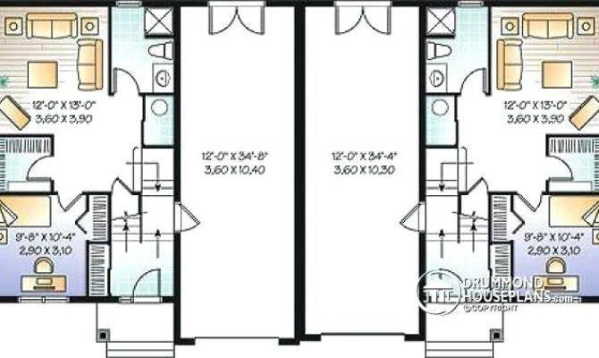 Floor Planduplex Plans Garage Middle Duplex