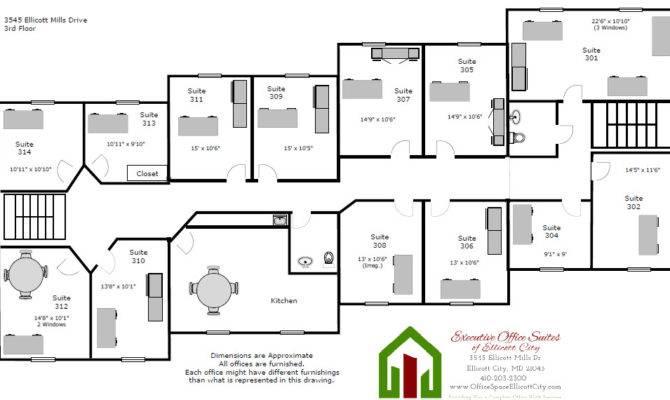 Floor Plans Executive Office Suites Ellicott City