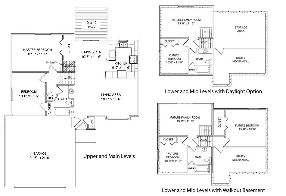 Floor Plans Front Elevations