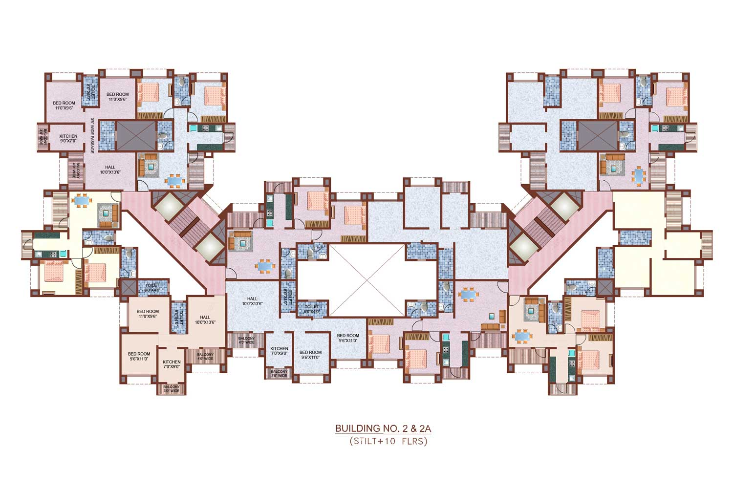 Floor Plans Nancy Group Thane Mumbai Residential Property Buy