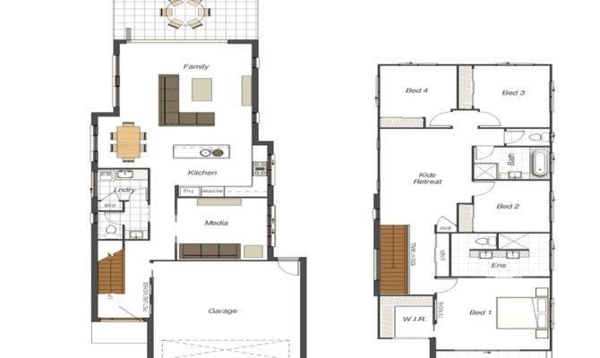 Floor Plans Narrow Lot Small House