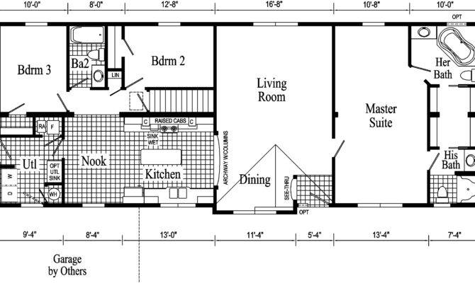 Floor Plans Ranch Style Homes Example