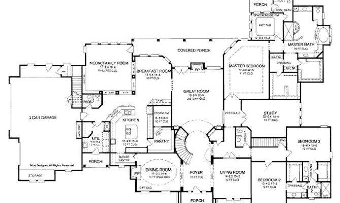 Floorplans Plan Detail Aflfpw Five Bedroom French Country