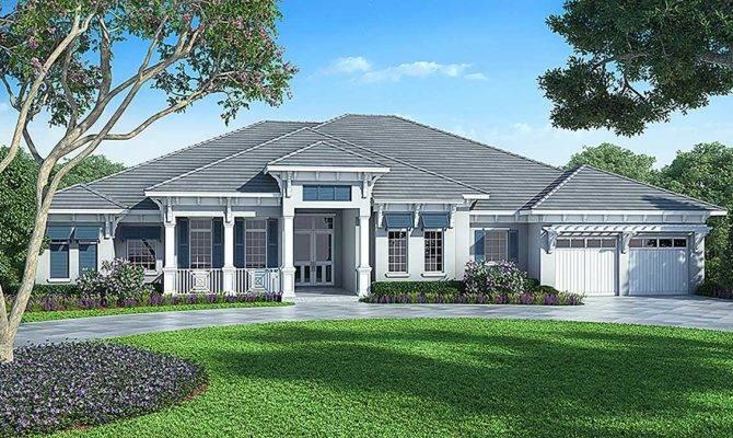Florida House Plan Detached Bonus Room