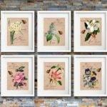 Flower Garden Print Set Botanical Artwork