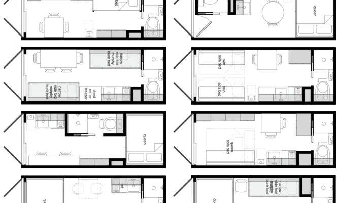 Foot Shipping Container Floor Plan Brainstorm Tiny
