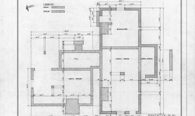 Foundation Plan William Thompson House Wake County North Carolina