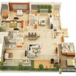 Four Bedroom Apartment House Plans Architecture