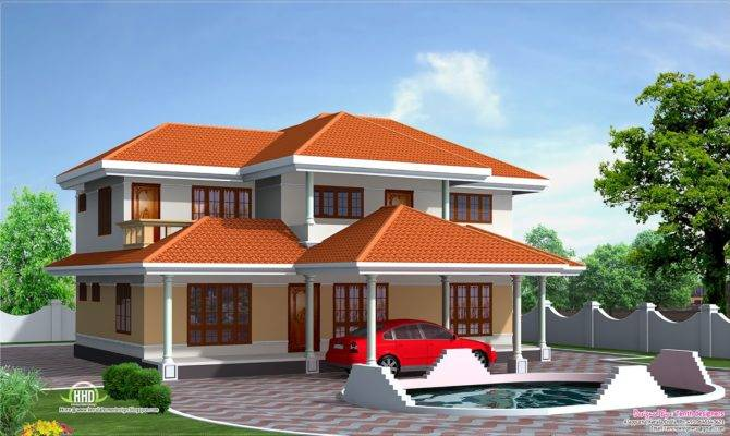 Four Bedroom House Elevation Feet Home