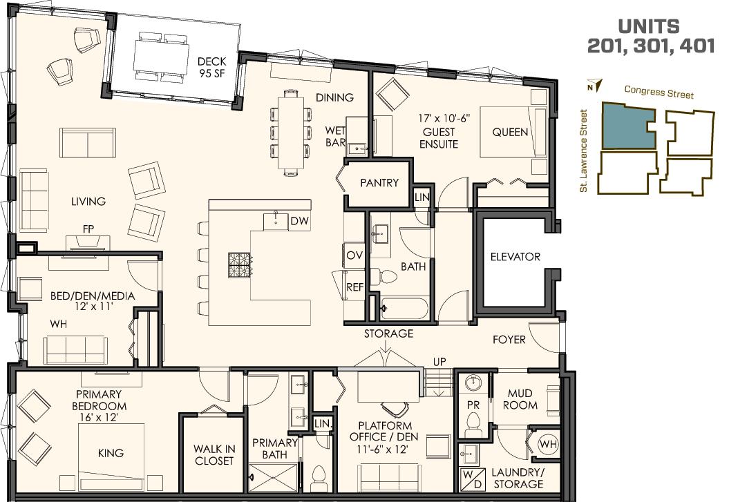 Four Different Floor Plans Onmunjoyhill