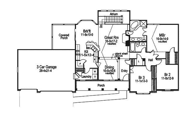 Foxbury Atrium Ranch Lovely Home Plan House Plans More