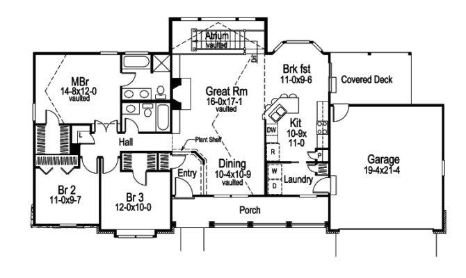 Foxridge Country Ranch Home Plan House Plans More