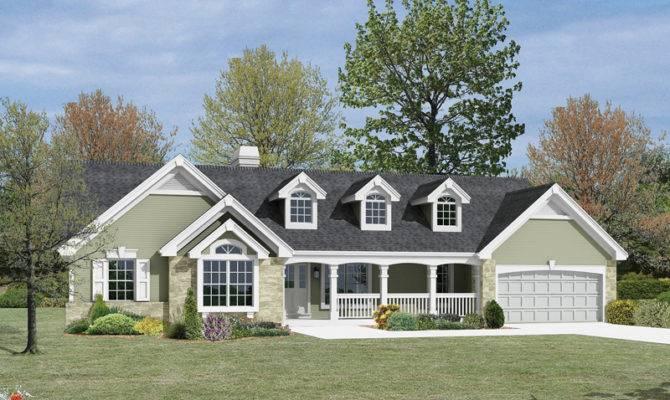 Foxridge Country Ranch Home Plan House Plans