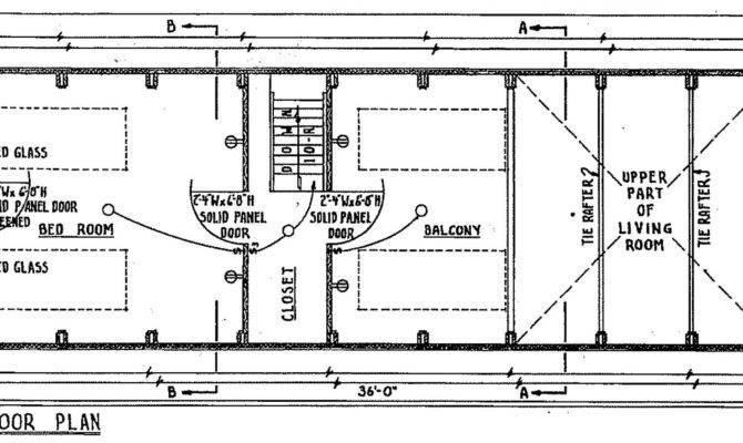 Frame Cabin Floor Plan Blueprint