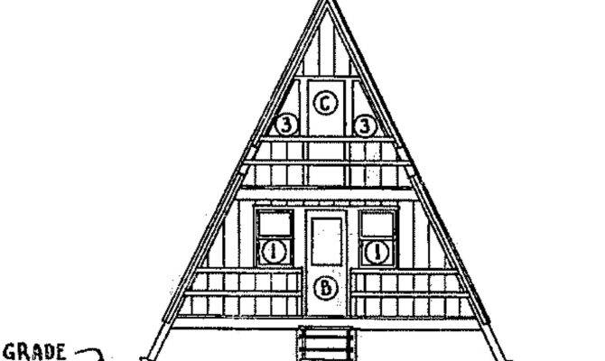 Frame Home Blueprint Back Cross