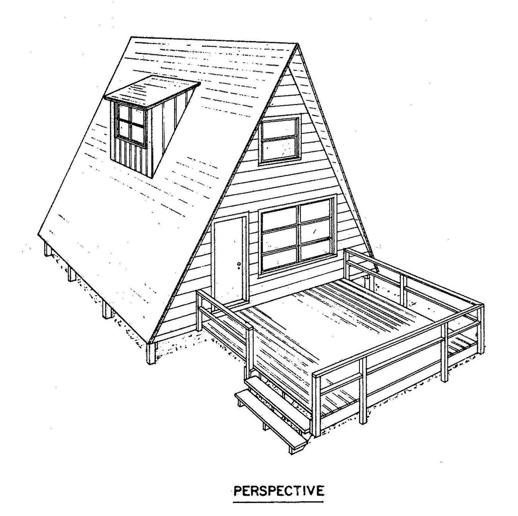 Frame House Plan Deck