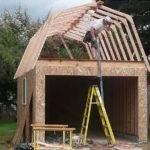 Framing Our Gambrel Roof Garage Portland Builders