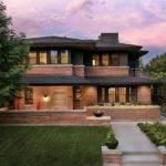 Frank Lloyd Wright Inspired Home Lush Landscaping