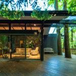 Frank Lloyd Wright Inspired House Modern Patio