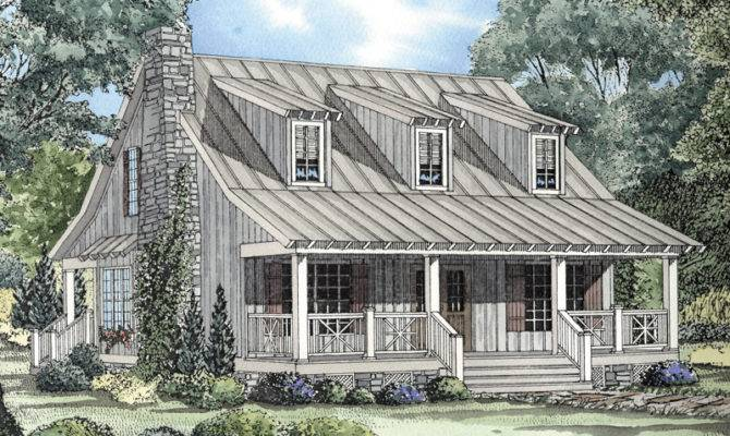 French Cottage House Plans Cabin Door