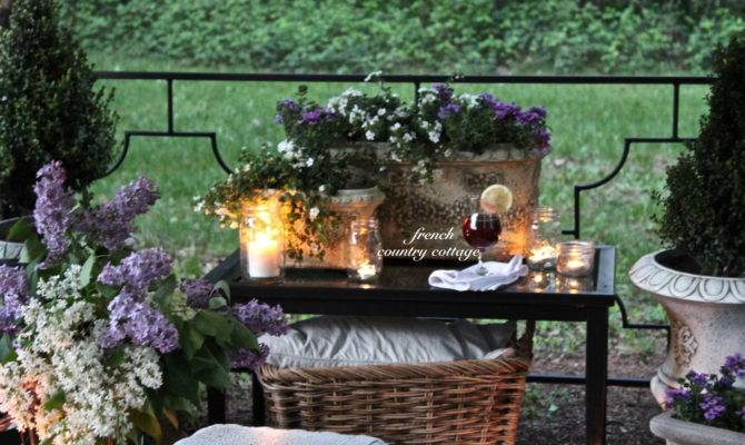 French Country Cottage English Garden Inspired Patio Makeover