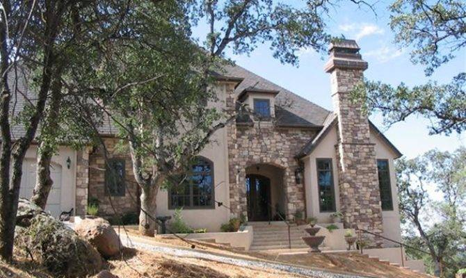 French Country Home Stone Mediterranean Exterior