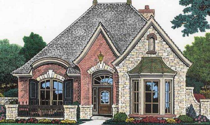 French Country House Plans Amicalola Cottage Rustic Style Plan
