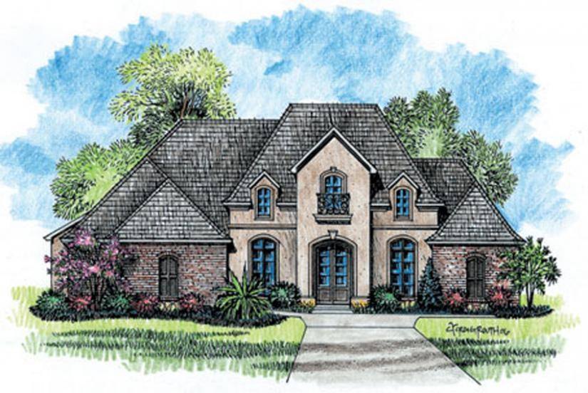 French Country House Plans One Story